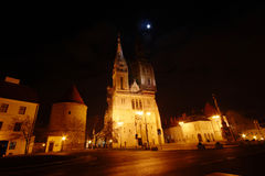 Cathedral by Night At Full Moon Stock Images