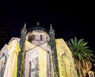Cathedral at night Herceg Novi Montenegro Stock Image