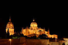 Cathedral at Night - Salamanca, Spain Stock Photos
