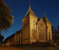 Cathedral at night in Stavanger, Norway. Stock Image