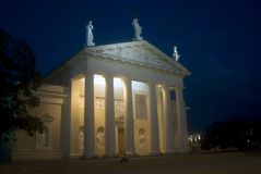 Cathedral by night, Vilnius, Lithuania Stock Photo