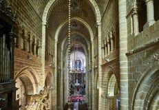 Cathedral of Nossa Senhora da Assuncao. Evora, Portugal. Stock Image