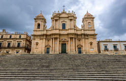 Cathedral in Noto Royalty Free Stock Photography