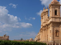 Cathedral in Noto. Photo took in Noto on Sicily stock images