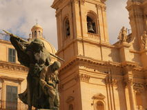 Cathedral in Noto. Photo took in Noto on Sicily royalty free stock photography