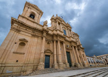 Cathedral in Noto Stock Image
