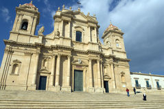 Cathedral in Noto, Sicily Stock Photo
