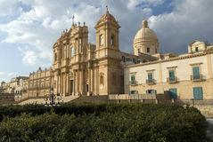 Cathedral in Noto, Sicily stock images