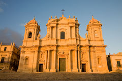 Cathedral of Noto, Sicily Stock Images