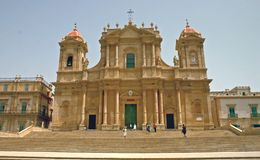 Cathedral of Noto - Sicily stock images