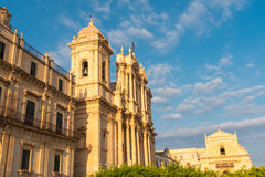 The cathedral of Noto in Sicily Royalty Free Stock Images