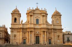 The Cathedral in Noto, Sicily, Italy stock photo
