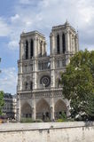 Cathedral, Notre Dam. The well-known church in Paris Stock Image