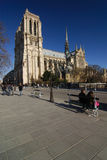 Cathedral Notre Dame. Paris famous monument Stock Photo