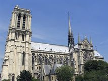 Cathedral Notre Dame. In Paris , France Stock Photos