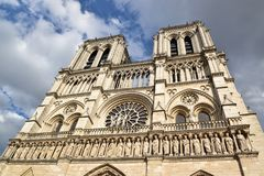The cathedral Notre-Dame. Is the main Catholic place of worship in Paris, is located on the Seine, in the center of the city of Paris Royalty Free Stock Images