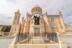 Cathedral of Notre dame d'Afrique, Algiers Algeria. Stock Images