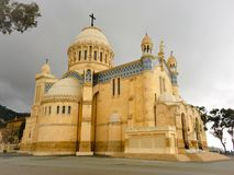 Cathedral of Notre dame d'Afrique, Algiers Algeria. The basilica was inaugurated in 1872, after Royalty Free Stock Photo