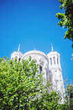 Cathedral Notre Dame de Fourviere in Lyon Stock Image
