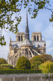 Cathedral of Notre Dame de Paris. As viewed from the back Stock Image
