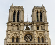 Cathedral Notre-Dame de Paris - Built  French Gothic architecture, and it is among most well-known church buildings in the world Stock Photography