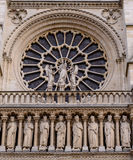 Cathedral Notre-Dame de Paris - Built French Gothic architecture, and it is among most well-known church buildings in the world Royalty Free Stock Photo