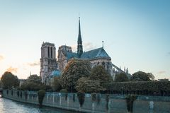 The Cathedral of Notre Dame de Paris. France Royalty Free Stock Photography