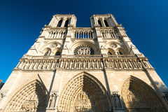 The Cathedral of Notre Dame de Paris Stock Images