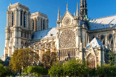 The Cathedral of Notre Dame de Paris Stock Photography