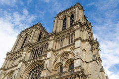 Cathedral Notre Dame de Paris Stock Images