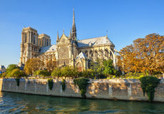 The Cathedral of Notre Dame de Paris. Royalty Free Stock Photography