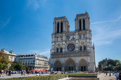 The Cathedral Notre-dame de Paris Royalty Free Stock Images