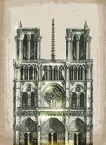 Cathedral of Notre Dame de Paris, France. Hand Royalty Free Stock Photo