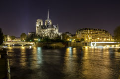 Cathedral Notre-Dame de Paris, France. Royalty Free Stock Photo
