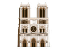 Cathedral Notre-Dame de Paris in France - 2 Stock Photo