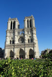 Cathedral Notre Dame de Paris front view Royalty Free Stock Photos