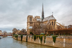 Cathedral of Notre Dame de Paris Royalty Free Stock Photos