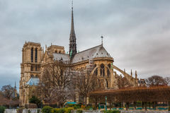 Cathedral of Notre Dame de Paris Stock Photography
