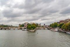 Cathedral of Notre Dame de Paris and  isle de la cite Royalty Free Stock Photos