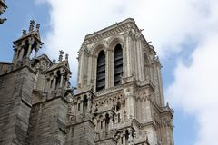 Cathedral Notre Dame de Paris Royalty Free Stock Photography