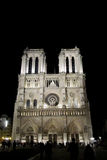Cathedral Notre Dame de Paris at night Stock Photography