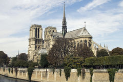 Cathedral Notre-Dame de Paris. Paris. France. Stock Photos