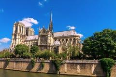Cathedral of Notre Dame de Paris Stock Photo