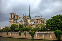 Cathedral of Notre Dame de Paris. The southern facade of Cathedral of Notre Dame de Paris Royalty Free Stock Photography