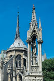 The Cathedral Notre-dame de Paris, the Square Jean XXIII and the Royalty Free Stock Photo