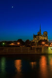 Cathedral of Notre Dame de Paris at sunset Royalty Free Stock Photo