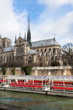 Cathedral Notre Dame de Paris Stock Photography