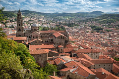 Cathedral Notre Dame de Puy in Le Puy en Velay France Royalty Free Stock Photos