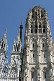 Cathedral Notre Dame de Rouen. Towers of one of the most beautiful cathedrals of Rouen (Normandy): the Notre Dame Royalty Free Stock Image