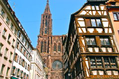 Cathedral Notre-Dame de Strasbourg. Cathedral of Notre-Dame de Strasbourg Royalty Free Stock Photography